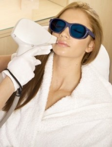 hair removal using laser at a professional salon
